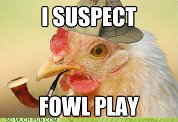 I suspect fowl play